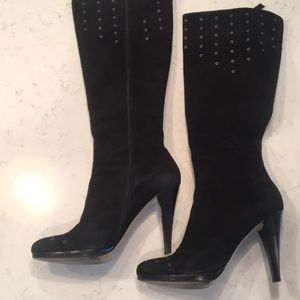 Calvin Klein Tall Black Suede Boots